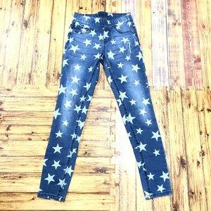 JUSTICE Sz 10 Slim Star Printed Mid Rise legging